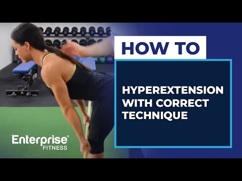 How to do a hyperextension with correct technique