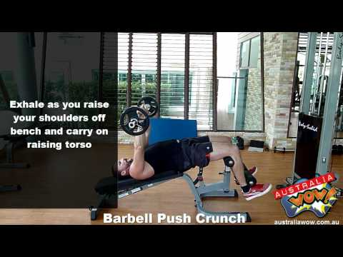 Barbell Push Crunch