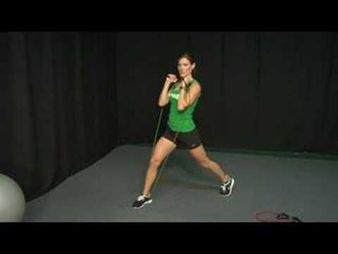 Resistance Band Exercises : Resistance Band Exercises: Lunges