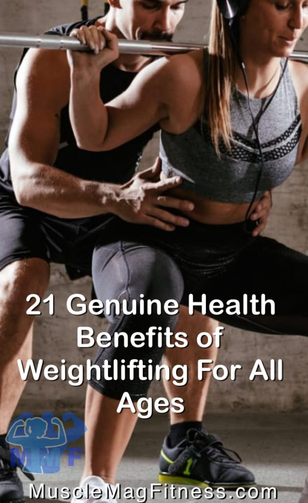 Fit Woman Doing Squats Supported By Handsome Man Getting Genuine Health Benefits of Weightlifting