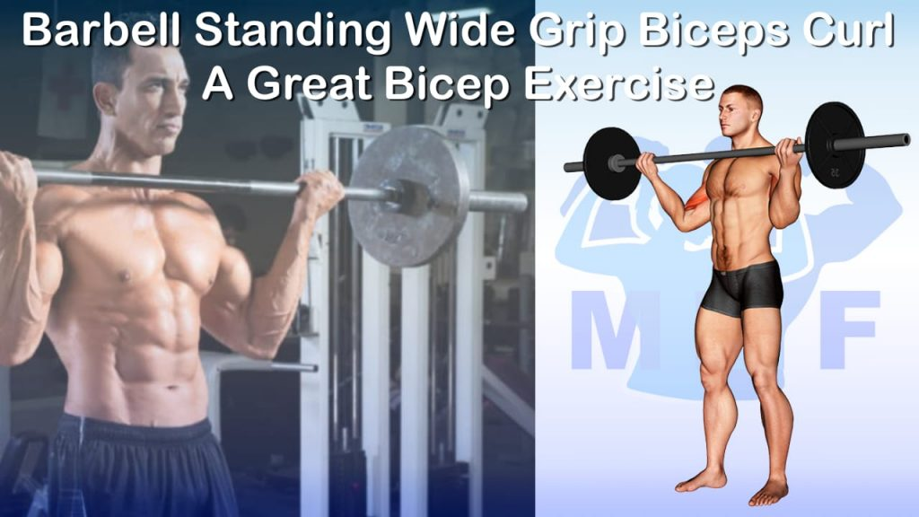 Barbell Standing Wide Grip Biceps Curl - A Great Bicep Exercise