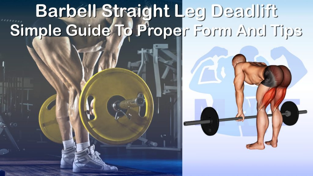 Barbell Straight Leg Deadlift - Simple Guide To Proper Form And Tips