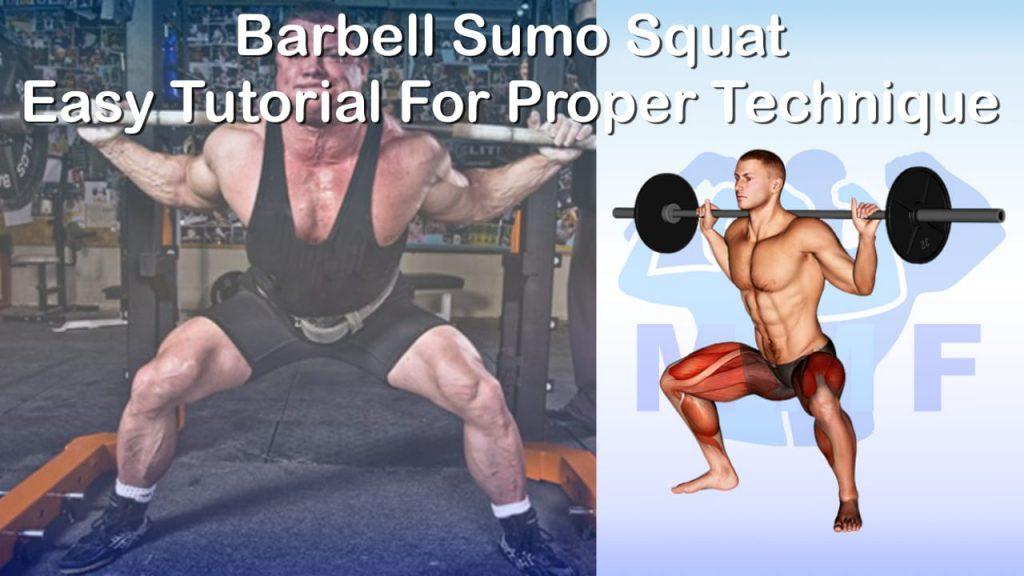 Barbell Sumo Squat - Easy Tutorial For Proper Technique