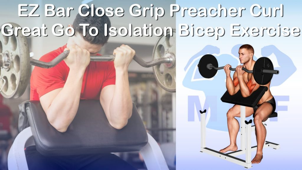 EZ Bar Close Grip Preacher Curl - Great Go To Isolation Bicep Exercise