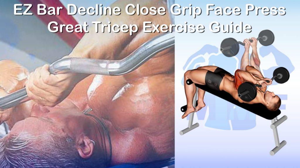 EZ Bar Decline Close Grip Face Press - Great Tricep Exercise Guide