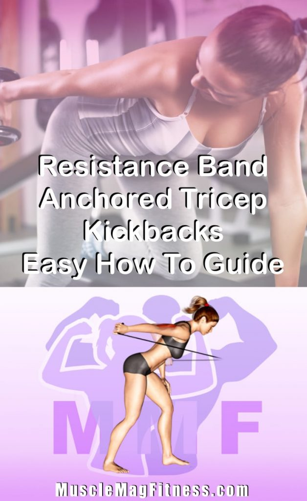 Pin Image Of Woman Performing Resistance Band Anchored Tricep Kickbacks Easy How To Guide