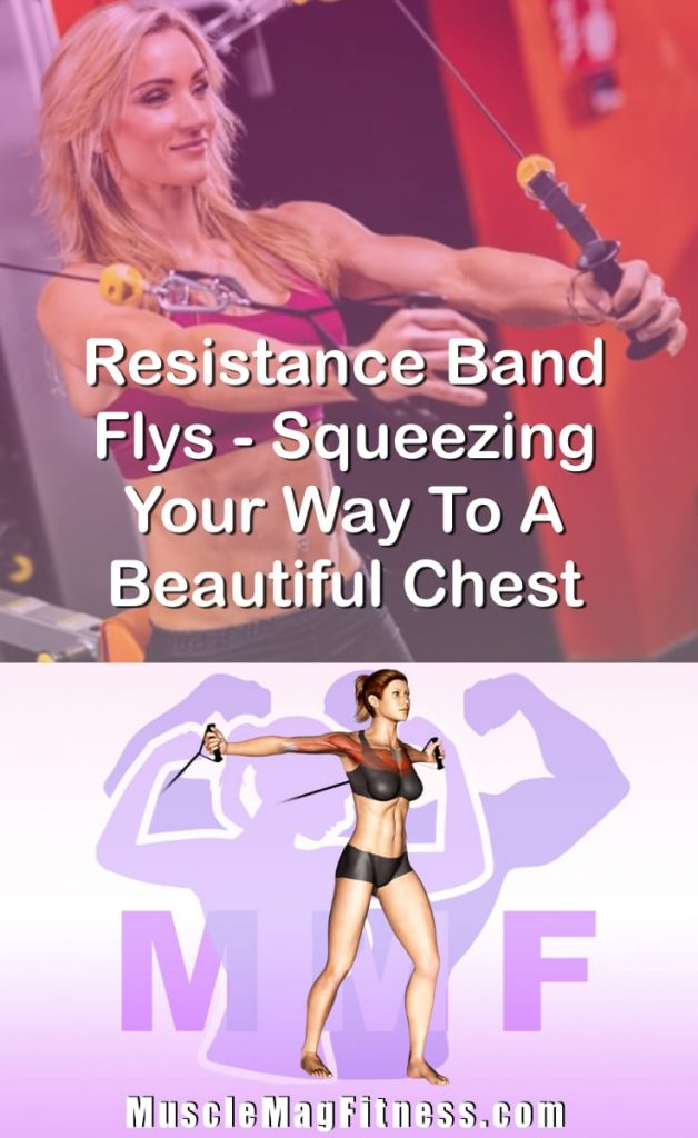 Pin Image Of Woman Performing Resistance Band Flys Squeezing Your Way To A Beautiful Chest