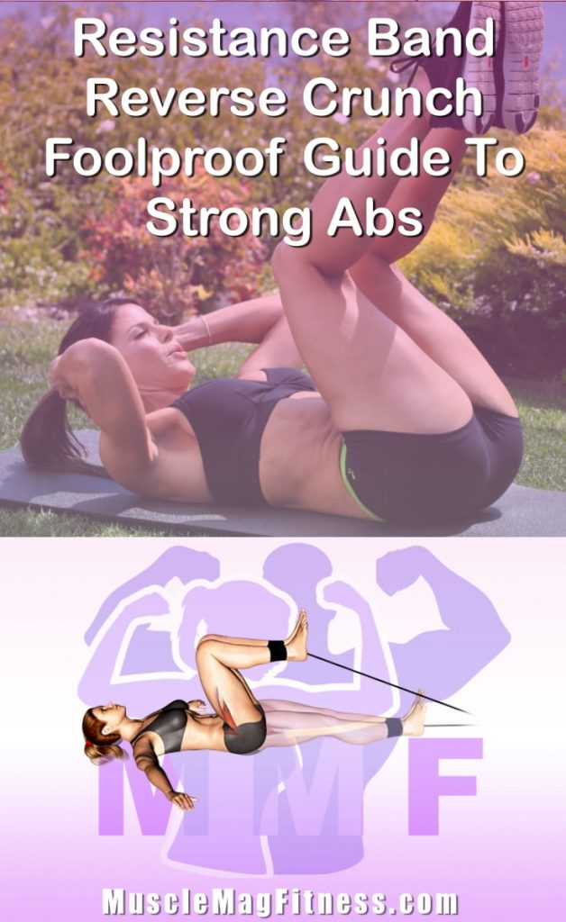 Pin Image Of Woman Performing Resistance Band Reverse Crunch Foolproof Guide To Strong Abs