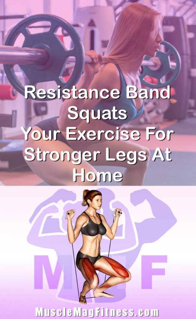 Pin Image Of Woman Performing Resistance Band Squats Your Exercise For Stronger Legs At Home