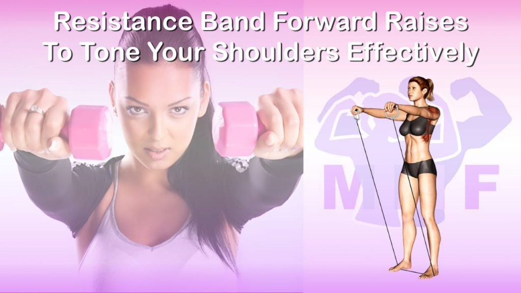 Feature image of Resistance Band Forward Raises To Tone Your Shoulders Effectively.