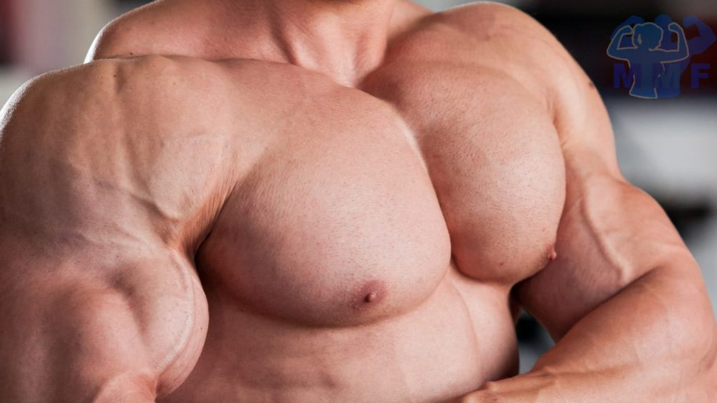 Strong Shirtless Man Flexing His Chest for top Pectoralis Major Exercises